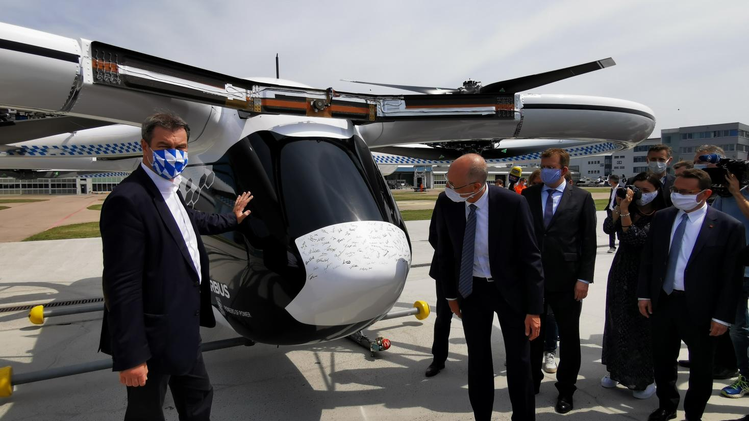 Markus Söder Airbus Helicopters